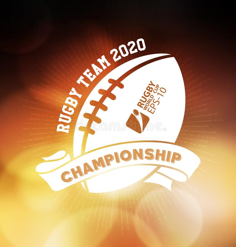 Campeonato Logo Sport Design Template do rugby ilustração stock