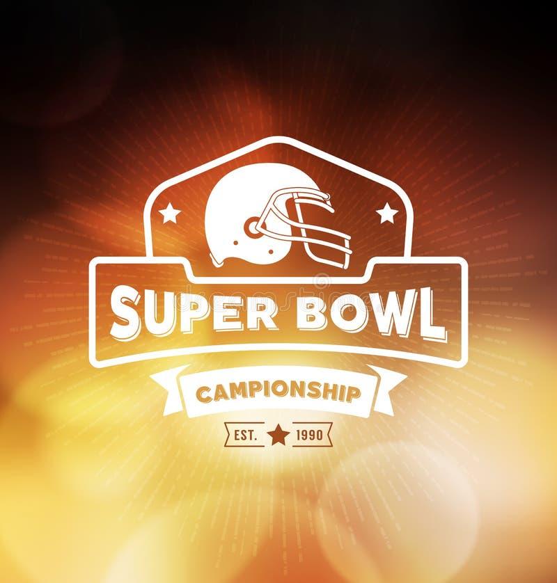 Campeonato Logo Sport Design Template do Super Bowl ilustração do vetor