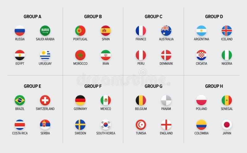 Campeonato mundial do futebol Competiam do futebol em Rússia ilustração stock