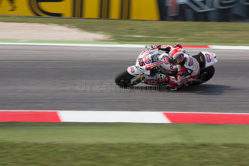 Campeonato mundial do Superbike da FIM - sessão da prática livre 3th fotos de stock