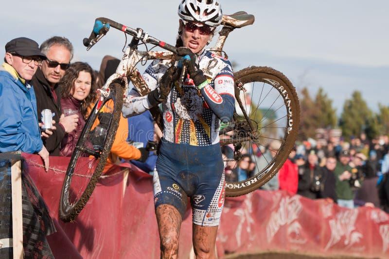 campeonato nacional de la Ciclo-cruz - mujeres de la élite imagen de archivo libre de regalías