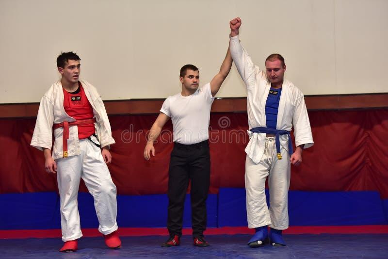 Campeonato no combate corpo a corpo do exército foto de stock