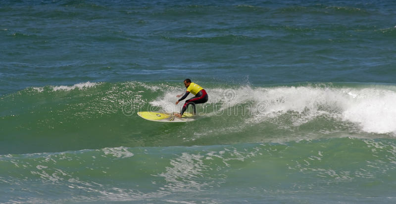 Campeonato português de Longboard, Nuno Santos foto de stock royalty free