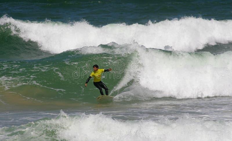 Campeonato português de Longboard, Silva de Jorge foto de stock