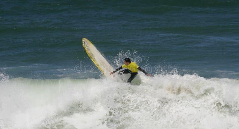 Campeonato português de Longboard, Silva de Jorge fotografia de stock