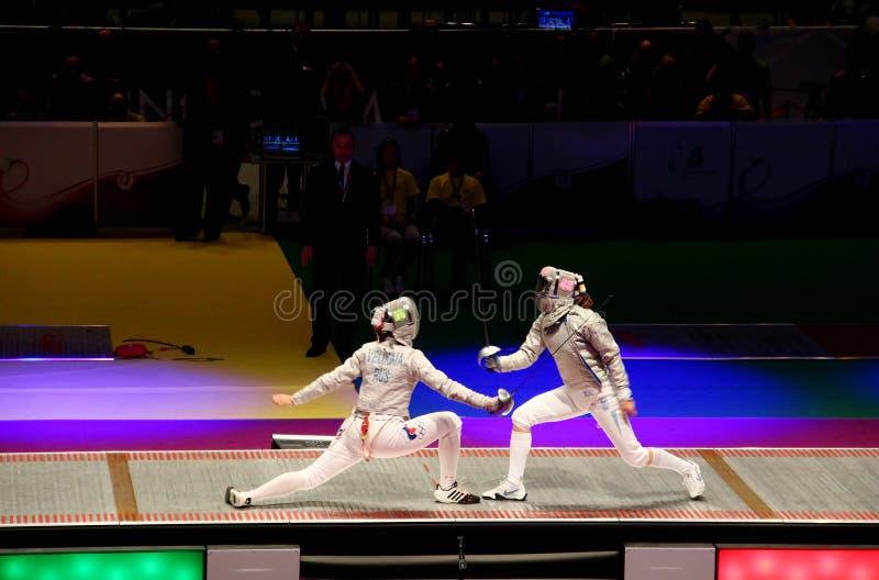 Campeonatos 2012 de cercado del mundo en Kyiv imagen de archivo