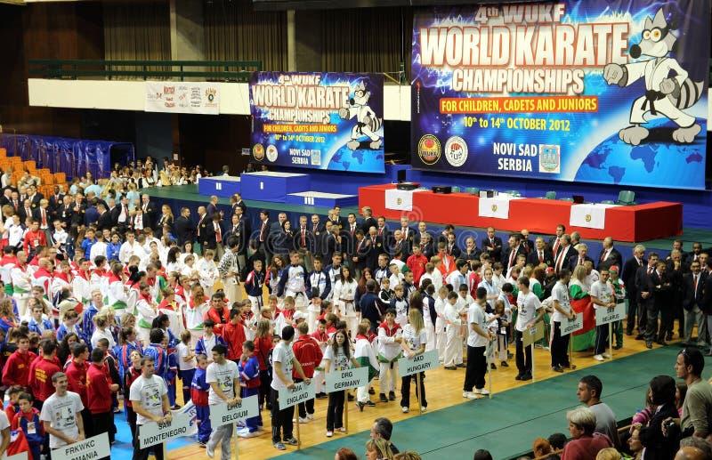 Campeonatos 2012 del karate del mundo imagenes de archivo