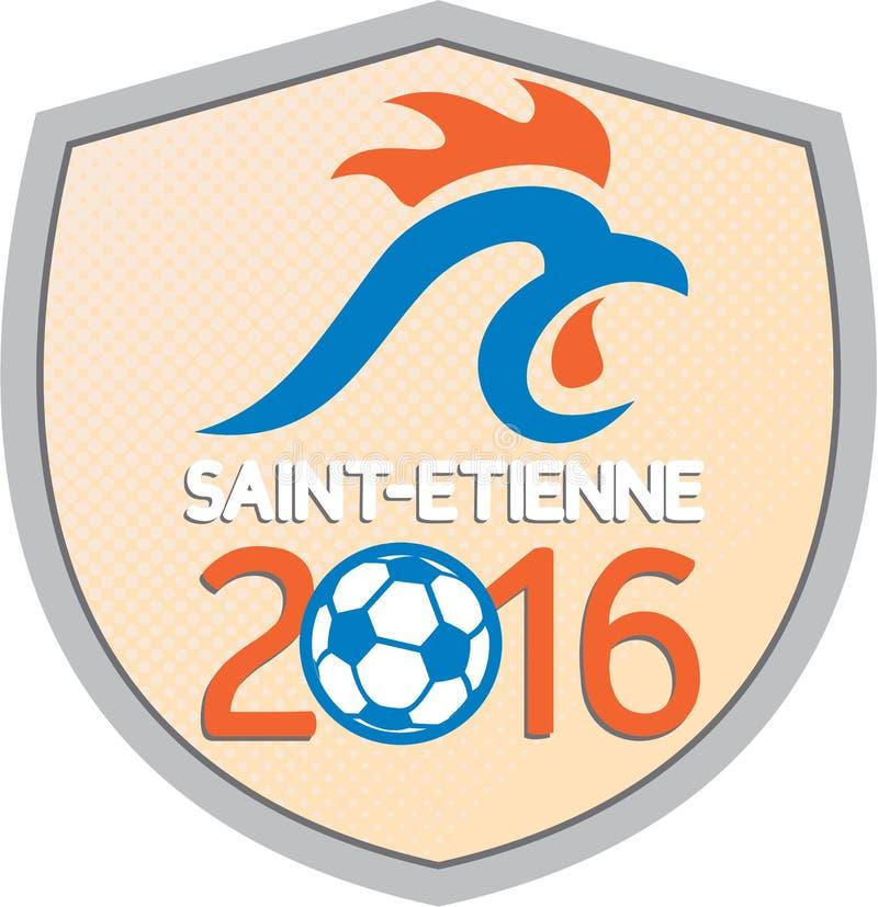 Campeonatos 2016 de St Etienne Europa ilustração royalty free