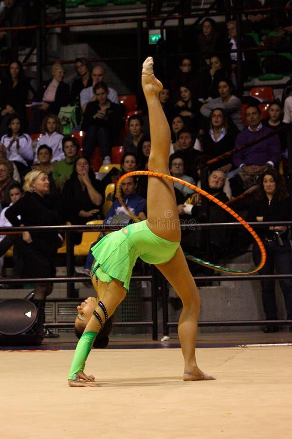 Campeonatos del italiano de la gimnasia rítmica foto de archivo libre de regalías