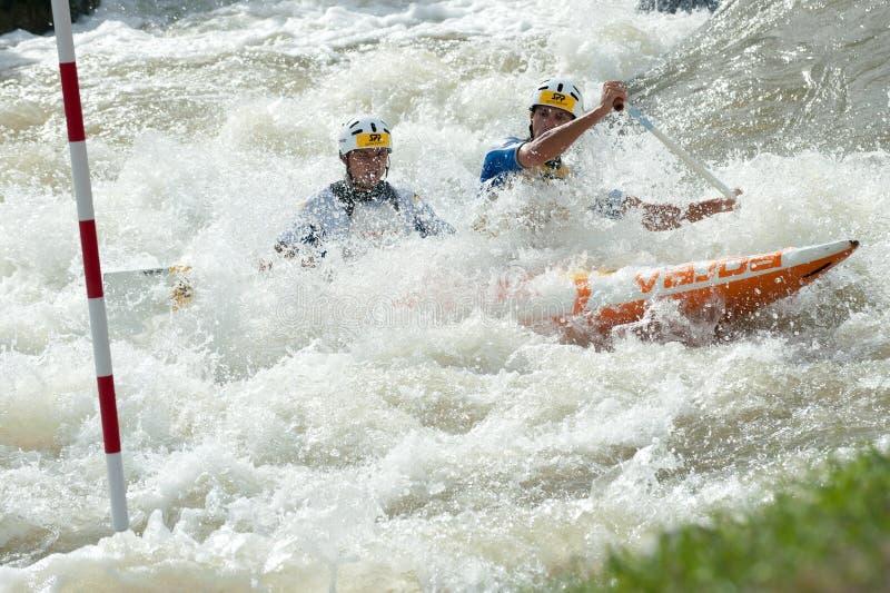 Campeonatos europeos del eslalom de la canoa, Cunovo (SVK) foto de archivo libre de regalías