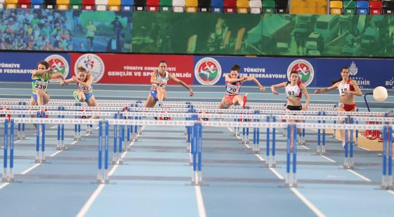 Campeonatos interiores del atletismo balcánico foto de archivo