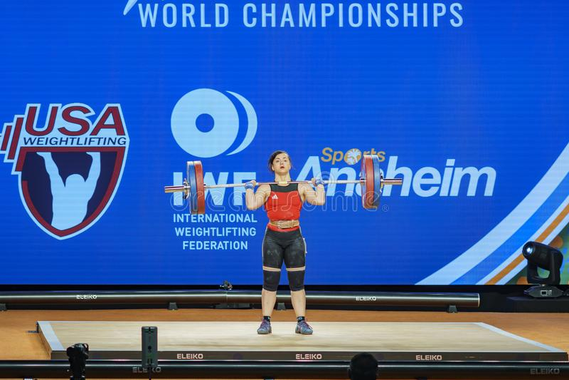 2017 campeonatos internacionales del mundo de la federación del levantamiento de pesas fotografía de archivo