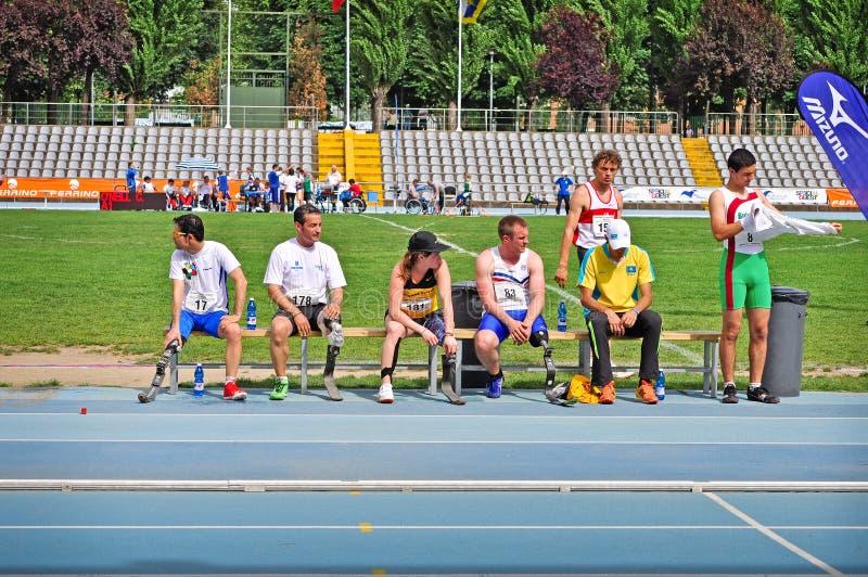 Campeonatos italianos del atletismo para paralympic fotos de archivo