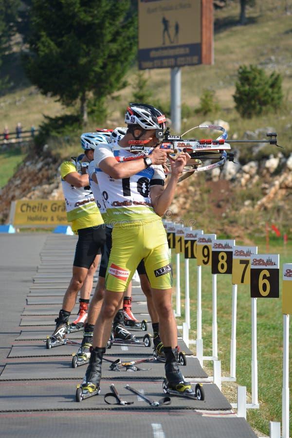 Campeonatos mundiais do Biathlon do verão de IBU, Cheile Gradistei, 2015 imagens de stock