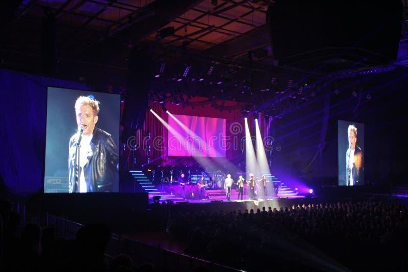 Campeones de la roca con Peter Johansson - cantante sueco foto de archivo