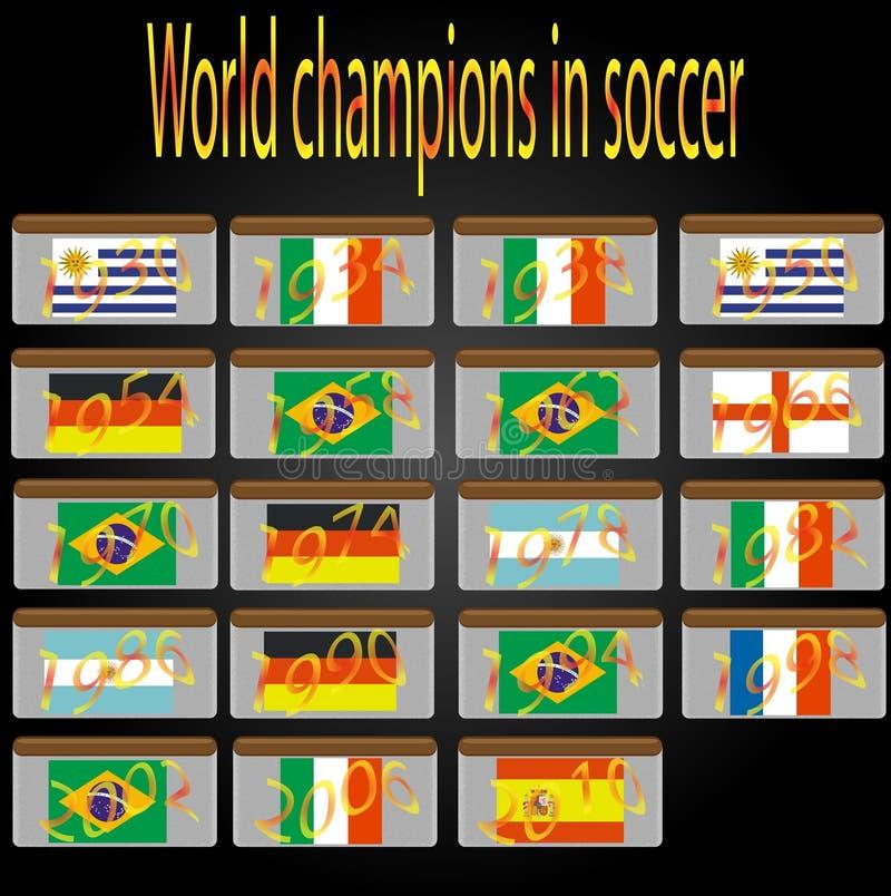Download Campeones Del Mundo En Futbol Ilustracion Del Vector Ilustracion De Fondo Pais