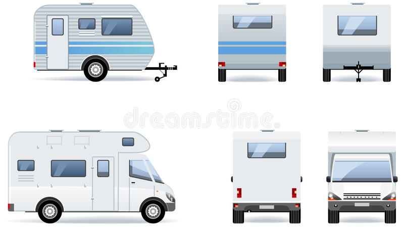 Download Camper stock vector. Image of drive, black, full, camp - 25095352