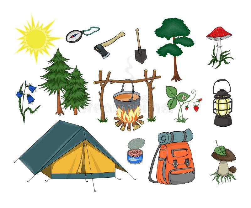 camper illustration libre de droits