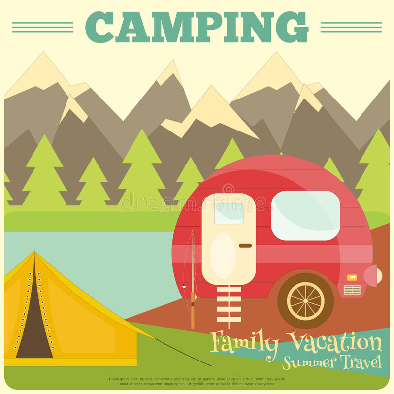 camper illustration de vecteur