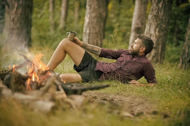 Camper, augmentant, mode de vie photographie stock