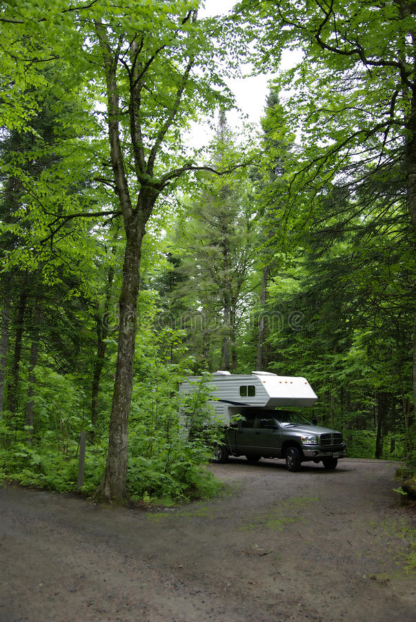 Download Camper On Campsite Stock Image - Image: 27307511