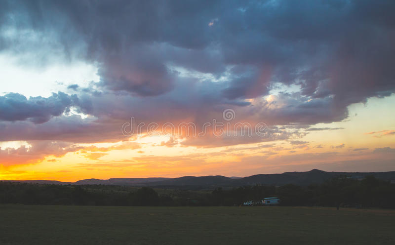 The only camper stock photography