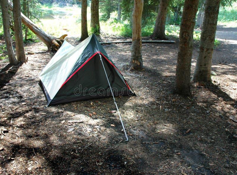 Camper dans la tente photos libres de droits