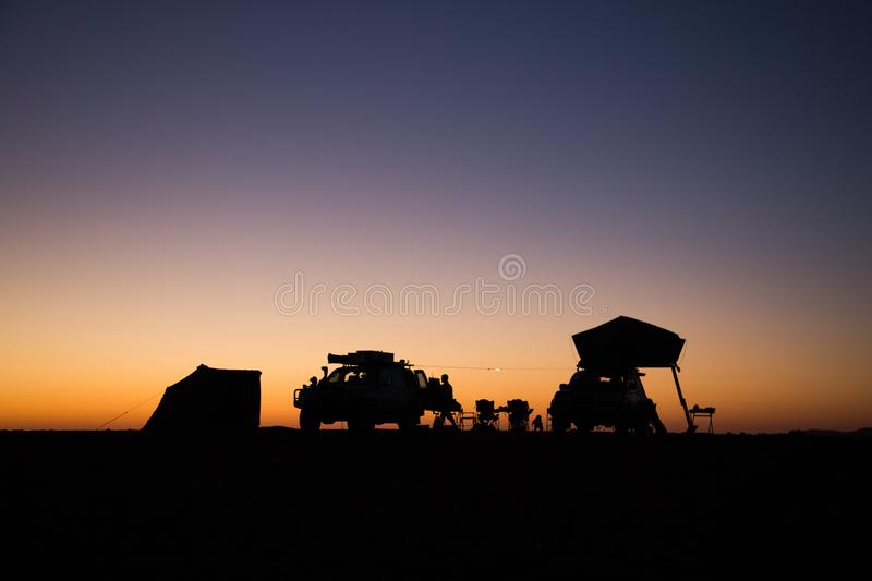 Camper dans Palmwag | Nambia photographie stock