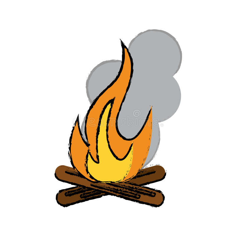 camper en bois de feu de camp de dessin illustration de vecteur illustration du illustration. Black Bedroom Furniture Sets. Home Design Ideas