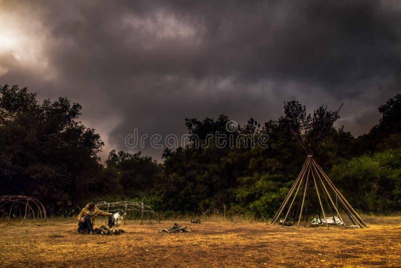 Camper In Field Free Public Domain Cc0 Image