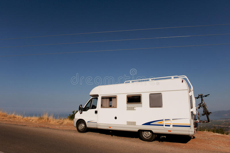 Download Camper in landscape stock photo. Image of peloponnese - 14333706