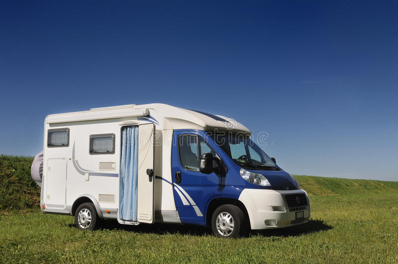 Download Camper Parked In A Countryside Stock Image - Image: 29733201