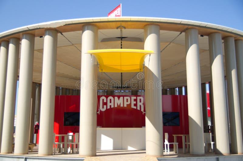 Camper's pavillion at the Volvo Ocean Race Village stock photo