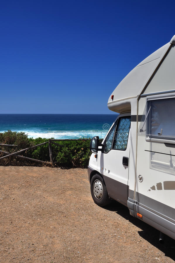 Download Camper van on the beach stock photo. Image of beach, journey - 26686474