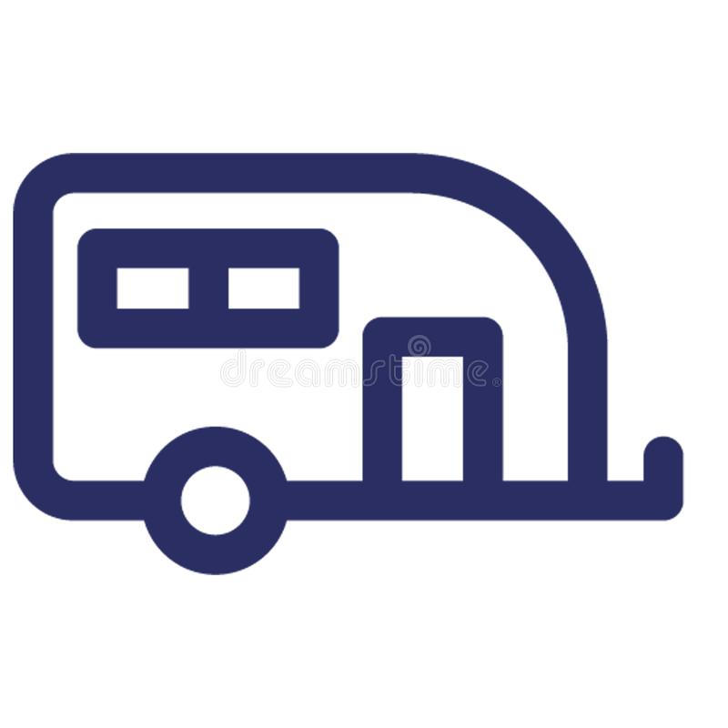 Camper van, conveyance Vector icon which can easily modify or edit royalty free illustration