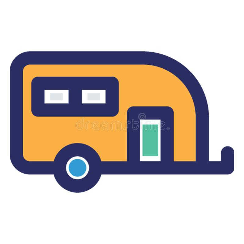 Camper van, conveyance Vector icon which can easily modify or edit vector illustration
