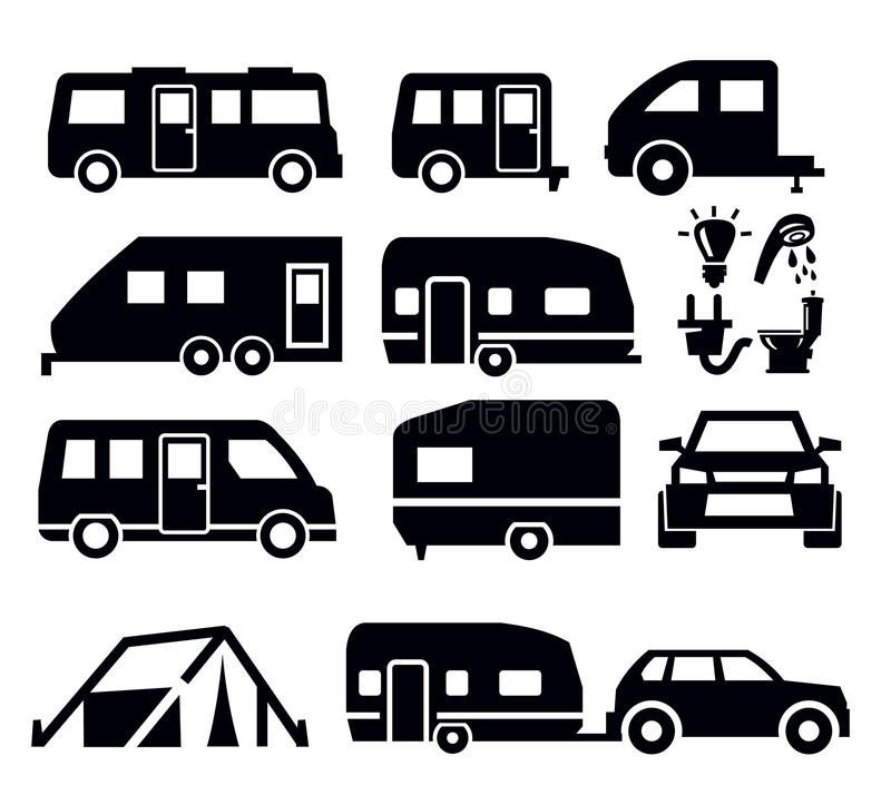 Download Camper Van Icons Stock Photography - Image: 29622572