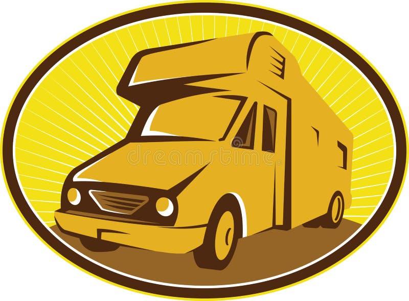 Camper Van Mobile Home Retro vector illustration