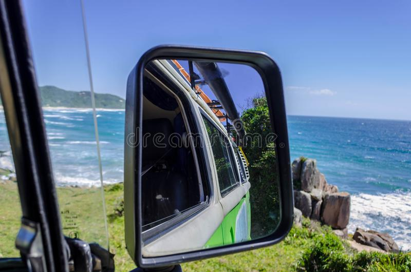 Campervan旅行在南巴西 库存照片