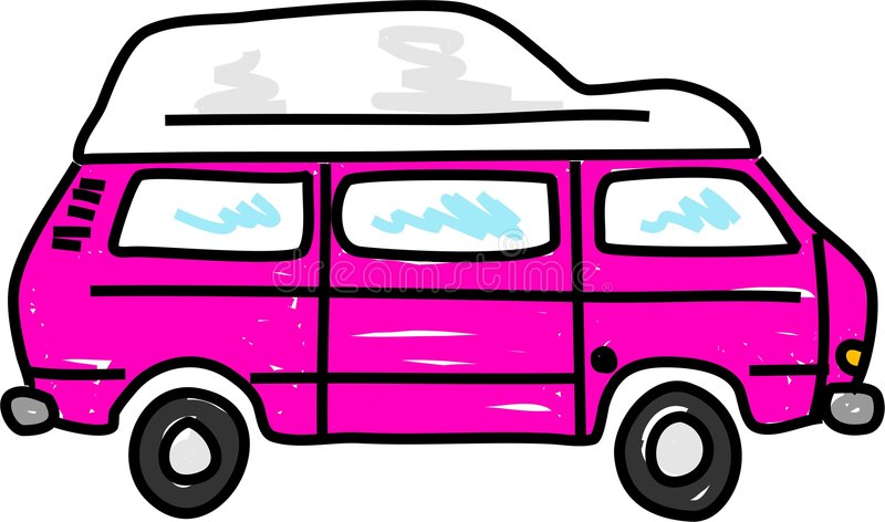 Campervan stock abbildung