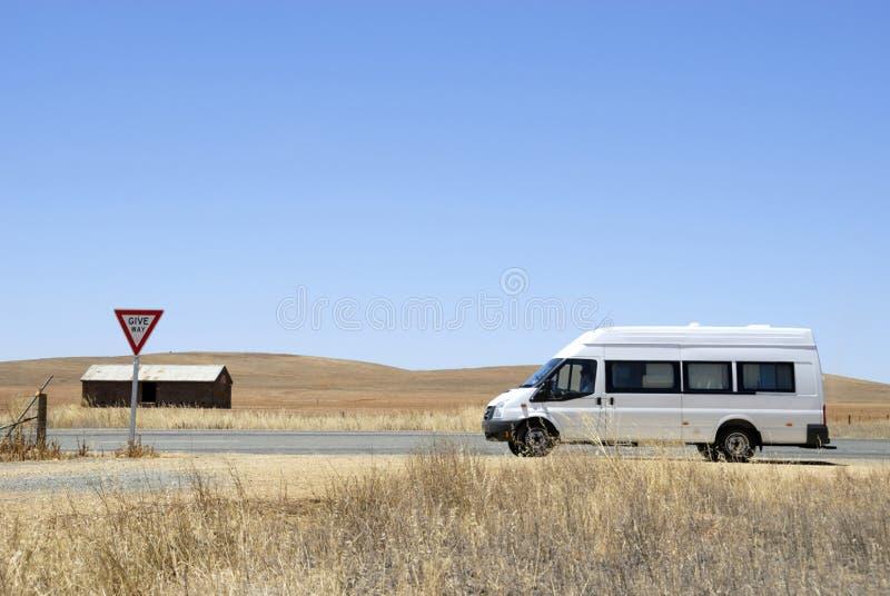 Campervan in Australië royalty-vrije stock afbeelding
