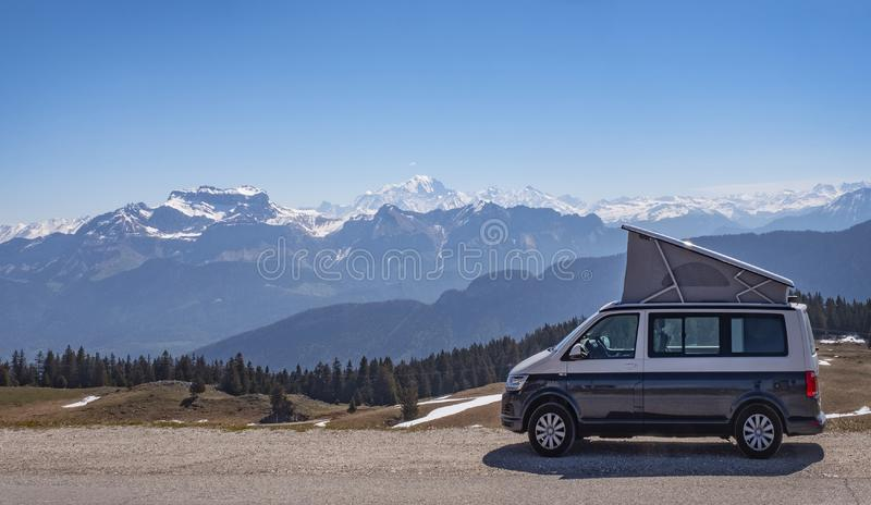 Campervan automatique image stock