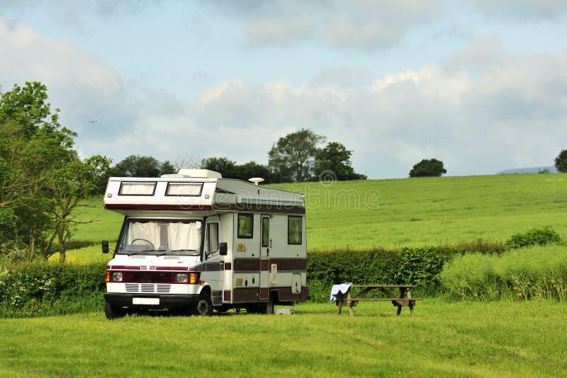 Download Campervan camping stock image. Image of setting, shropshire - 25288591