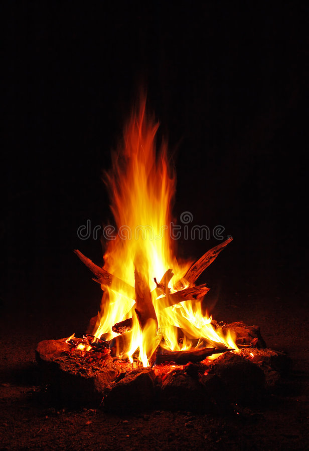 campfire 02 arkivfoton
