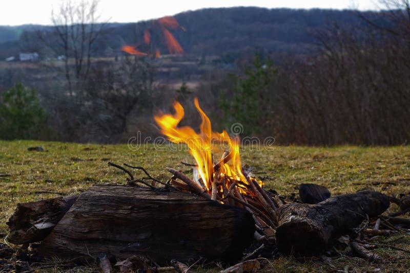 campfire stock afbeelding