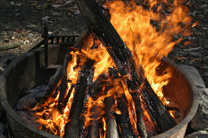 Download Campfire stock photo. Image of camp, embers, smoke, fire - 163420