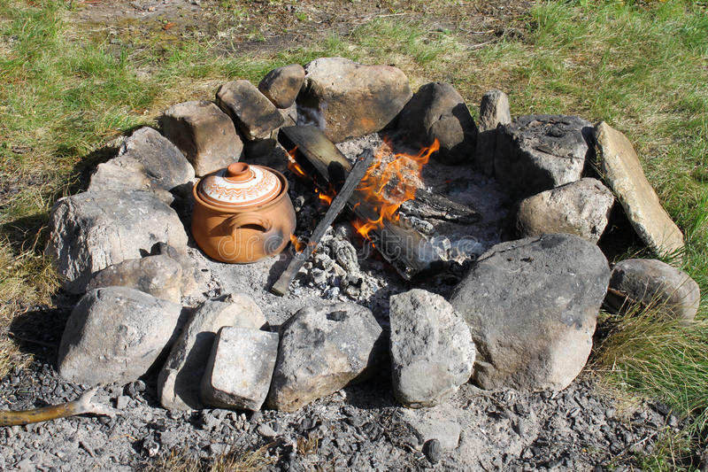 Download Campfire stock photo. Image of ashes, countryside, cook - 26087974