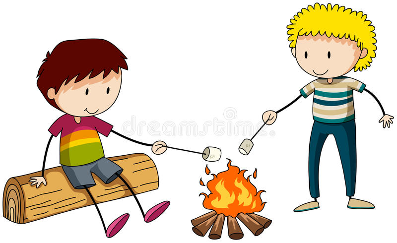 campfire stock illustratie
