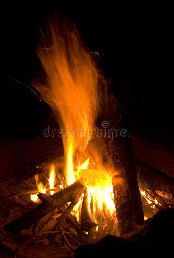 Download Campfire stock image. Image of camp, night, logs, smores - 761969