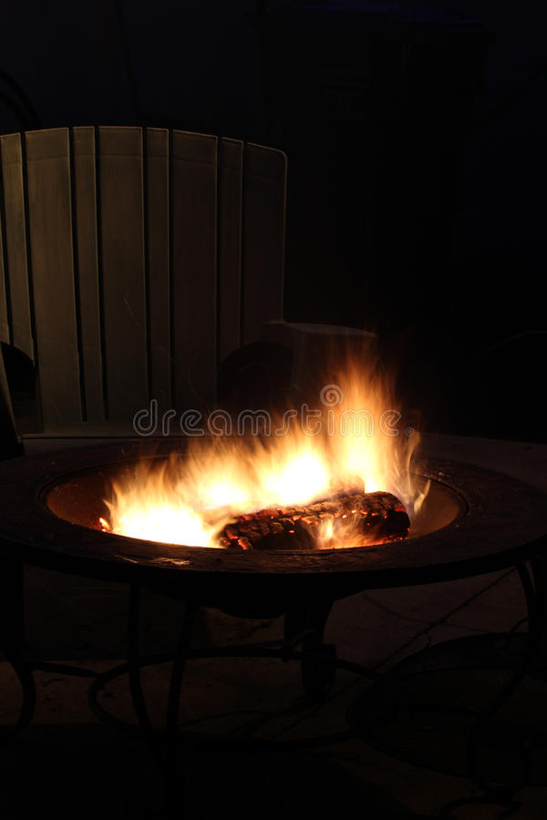 Campfire with Chair royalty free stock images
